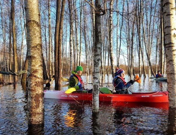Latvia travel kayaking in winter idaadventures